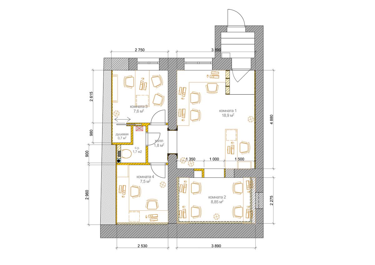 План мини-офиса